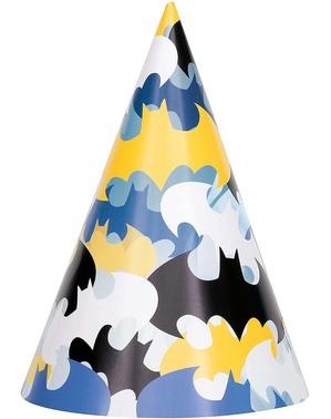 8 chapelinhos de aniversário Batman