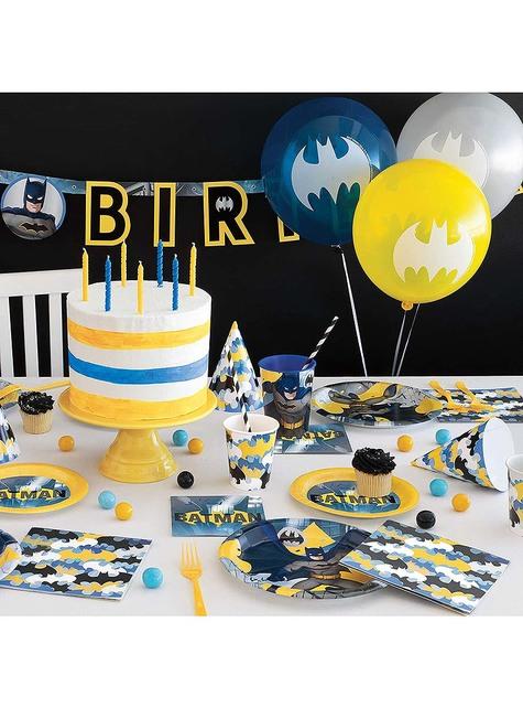 8 gorritos de cumpleaños Batman