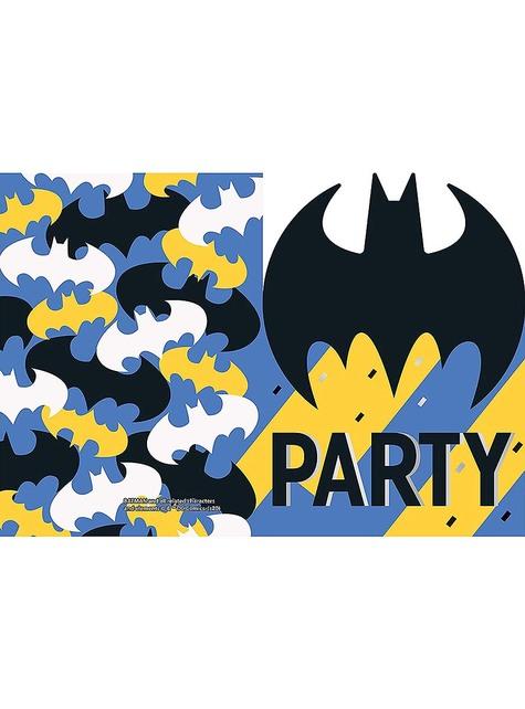 8 invitaciones Batman