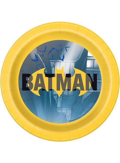 8 Platos Batman pequeños (18 cm)