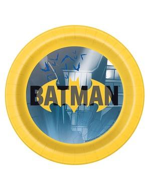 8 Pratos Batman pequenos (18 cm)