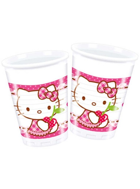 8 vasos de Hello Kitty - Hello Kitty Hearts
