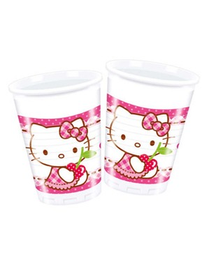 8 Hello Kitty Pappbecher - Hello Kitty Hearts