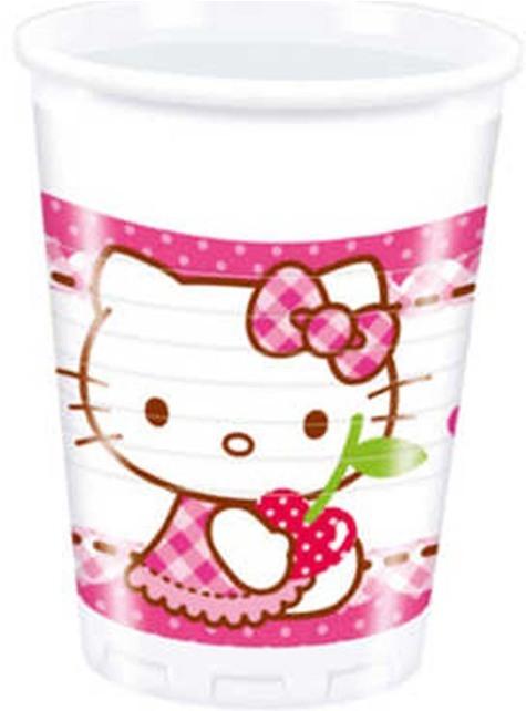 8 Kubki Hello Kitty - Hello Kitty Hearts