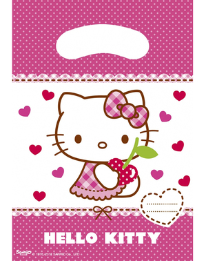 6 Hello Kitty Party Bags - Hello Kitty Hearts