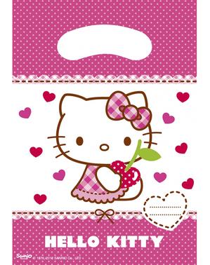 6 sacchetti per caramelle Hello Kitty - Hello Kitty Hearts