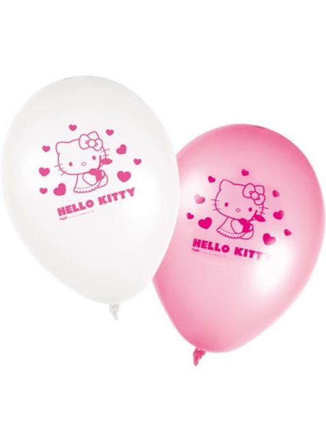 8 Balónků Hello Kitty - Hello Kitty Hearts