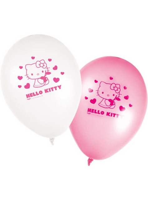 8 Balony Hello Kitty - Hello Kitty Hearts