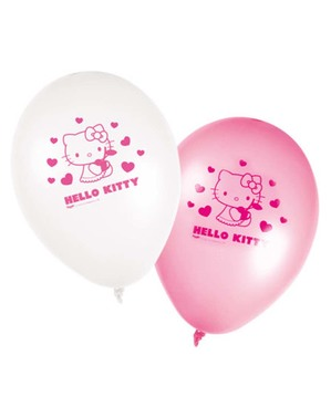8 Hello Kitty Balloons - Hello Kitty Szívek