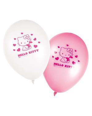 8 Hello Kitty Повітряні кулі - Привіт Кітті серця