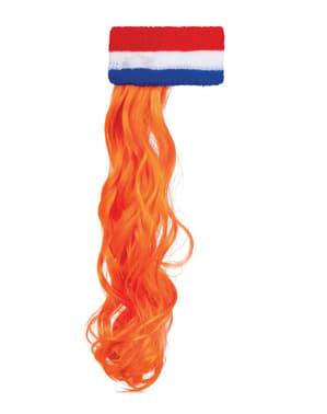 Sportovní čelenka pro dospělé s vlasy holandské barvy