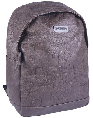 Brown Baby Yoda Backpack - The Mandalorian Star Wars