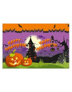 """Happy Halloween"" Rectangular Table Cover - Happy Spooky Halloween"