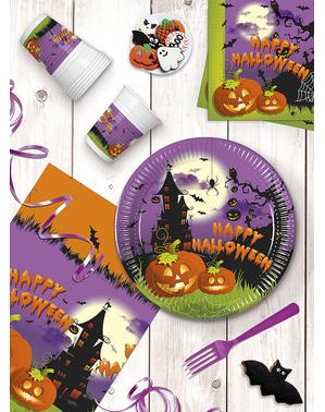 """20 """"Happy Halloween""""-Lautasliinat (33x33 cm) - Hyvää Spooky Halloween"""