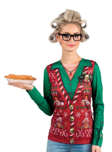 Camiseta navideña entrañable para mujer
