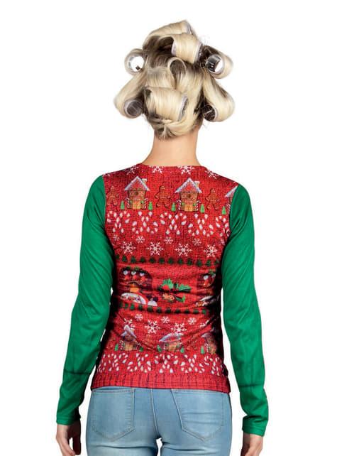 Camiseta navideña entrañable para mujer - mujer