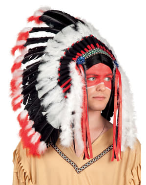 Penacho índio cherokee para adulto