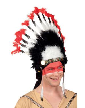 Fjäderskrud Apache indian för vuxen