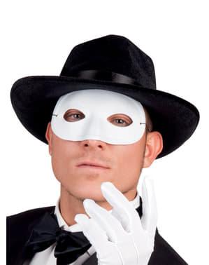 Hvit Maskerademaske til Voksne