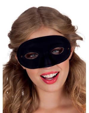 Oogmasker zwart voor volwassenen