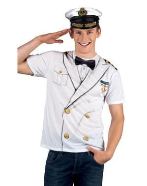 Kaptein T-skjorte Mann