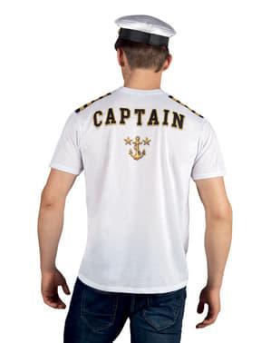 קפטן חולצת טריקו של גברים