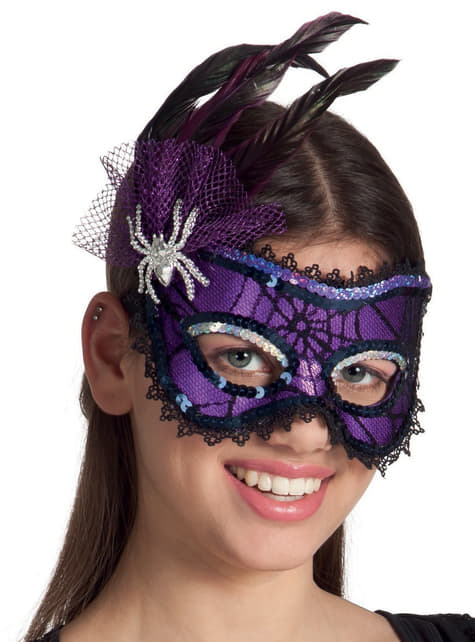 Adult's Little Miss Spider Masquerade Mask