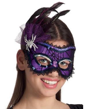 Máscara de senhorita aranha para adulto
