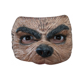 Máscara Half Mask Brown Wolf Halloween