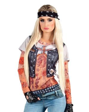 Camiseta de motera sexy para mujer