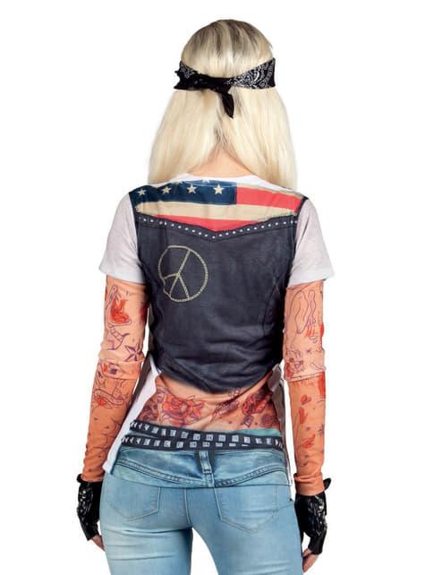 Women's Sexy Biker T-shirt