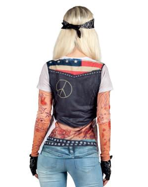 Bluzka sexy dziewczyna na motorze damski