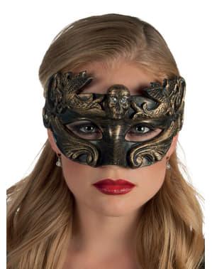 Venezianische Augenmaske mit Totenkopf