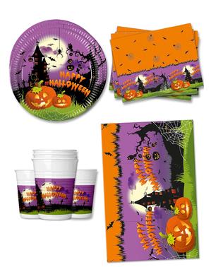 Décoration fête Citrouille 16 personnes - Happy Spooky Halloween