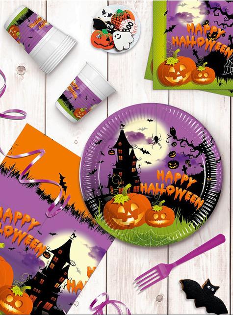 Decoración fiesta Calabaza 16 personas - Happy Spooky Halloween