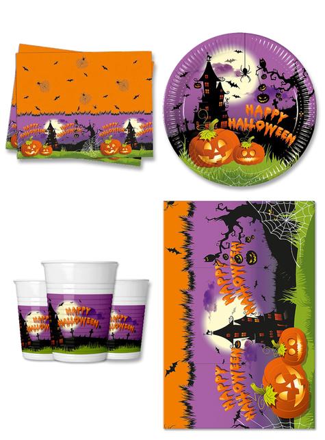 Decoración fiesta Calabaza 8 personas - Happy Spooky Halloween