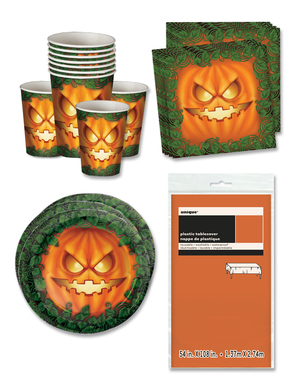 Pumpkin Party Decorations for 16 People