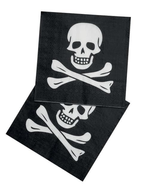 Conjunto de 12 guardanapos piratas