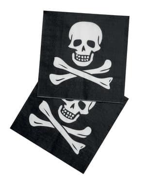 Sett med 12 Pirat Servietter