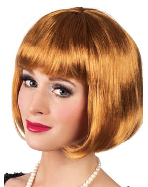 Woman's Honey Blonde Half Wig with Fringe
