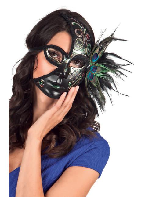 Woman's Venetian Peacock Mask