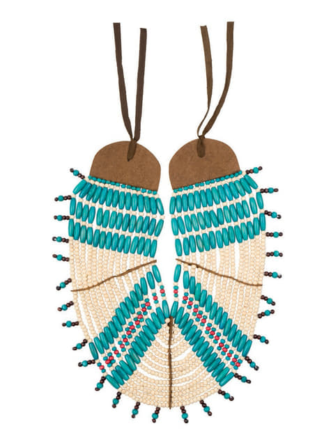 Adult's Deluxe Indian Man Necklace
