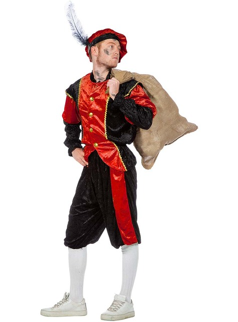 Schwarzer Peter Piet Nikolaushelfer rotes  Kostüm für Herren