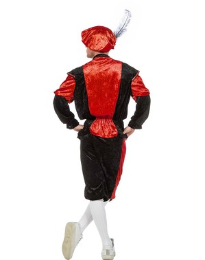 Pánský kostým Peter, pomocník Santa Clause červený