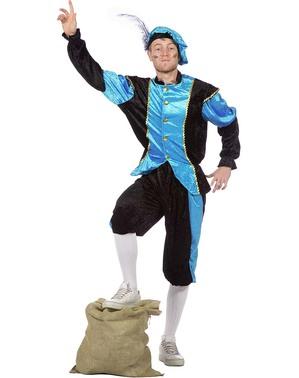 Pánský kostým Peter, pomocník Santa Clause tyrkysový