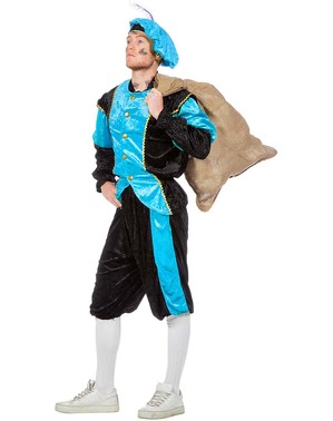 Schwarzer Peter Piet Nikolaushelfer türkis Kostüm für Herren