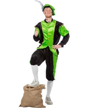Schwarzer Peter Piet Nikolaushelfer hellgrünes Kostüm für Herren