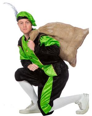 Zielony Strój Piotra - pomocnika Mikołaja dla mężczyzn