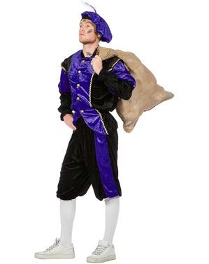 Schwarzer Peter Piet Nikolaushelfer lila Kostüm für Herren