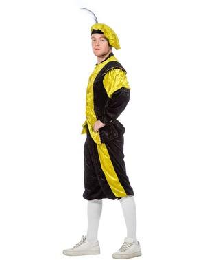 Geel Piet kostuum, hulp van Sinterklaas voor mannen